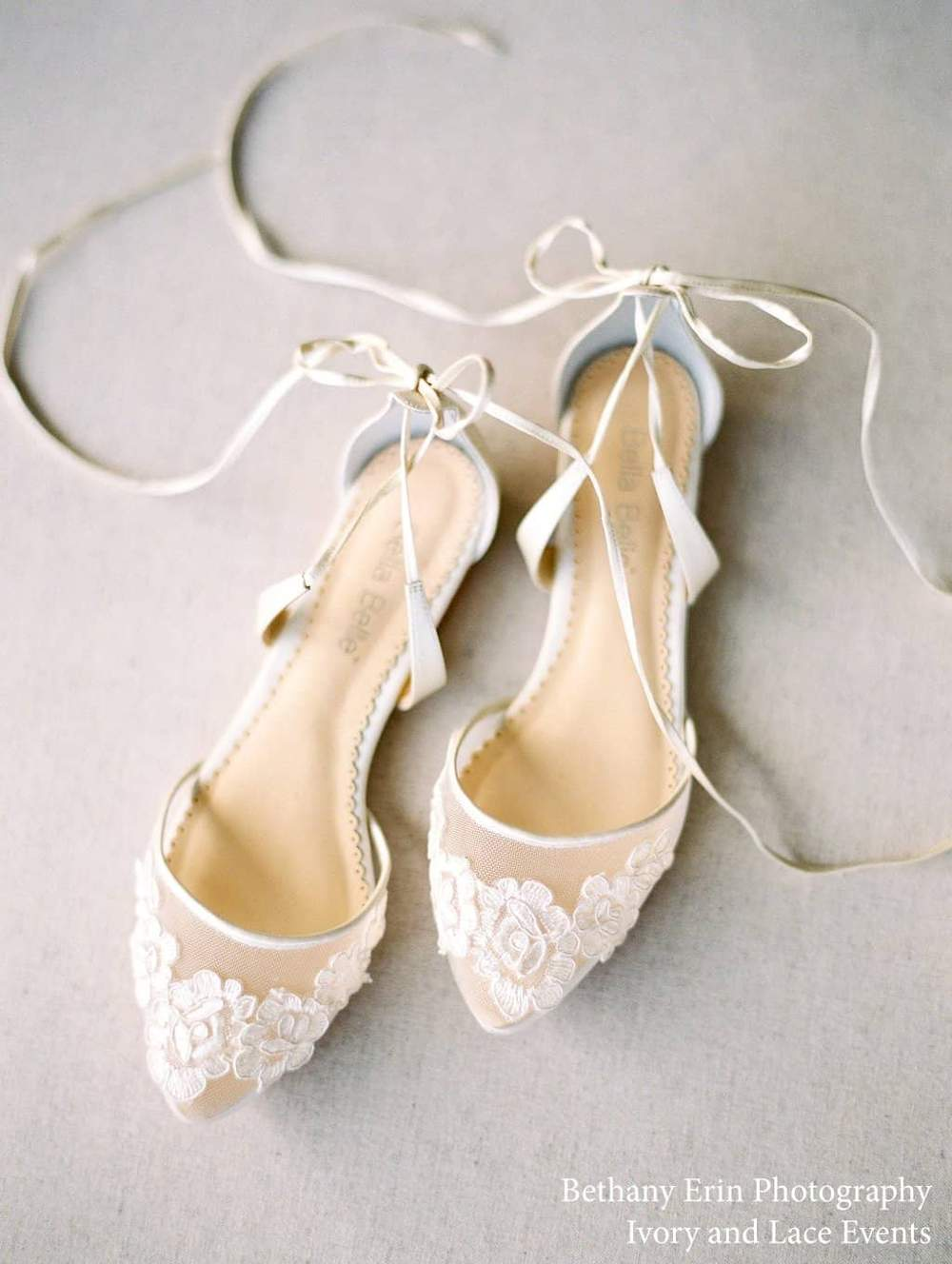 Chaussures de mariée Alicia bellabelle plates ballerines confort dentelle mariage tulle