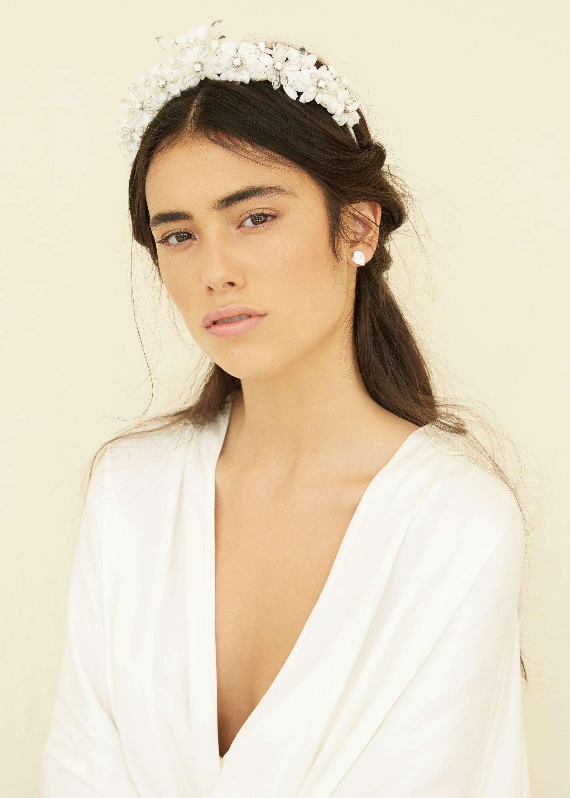Bijoux accessoires de mariage Bo&Luca couronne tiare diadème strass cheveux coiffure chignon mariée