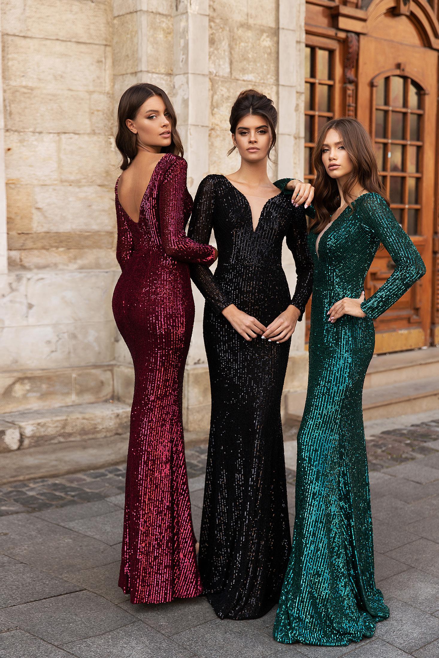 aria bride geneve geneva glitter sequin robe de soirée cocktail invitée guest mariage gala manches longues