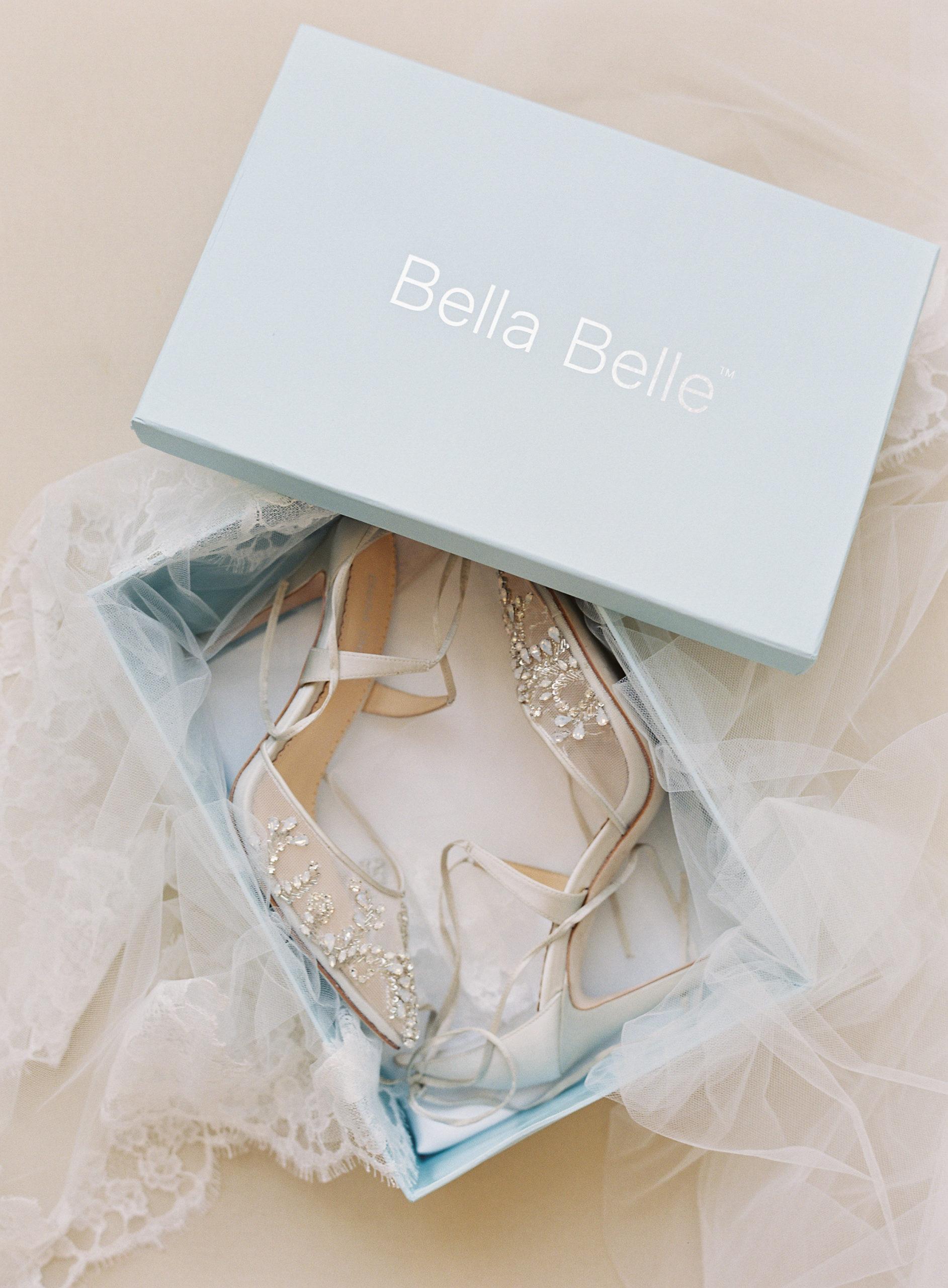 Bella Belle Shoes chaussures souliers mariée confortable strass 10cm talon haut ivoire Genève