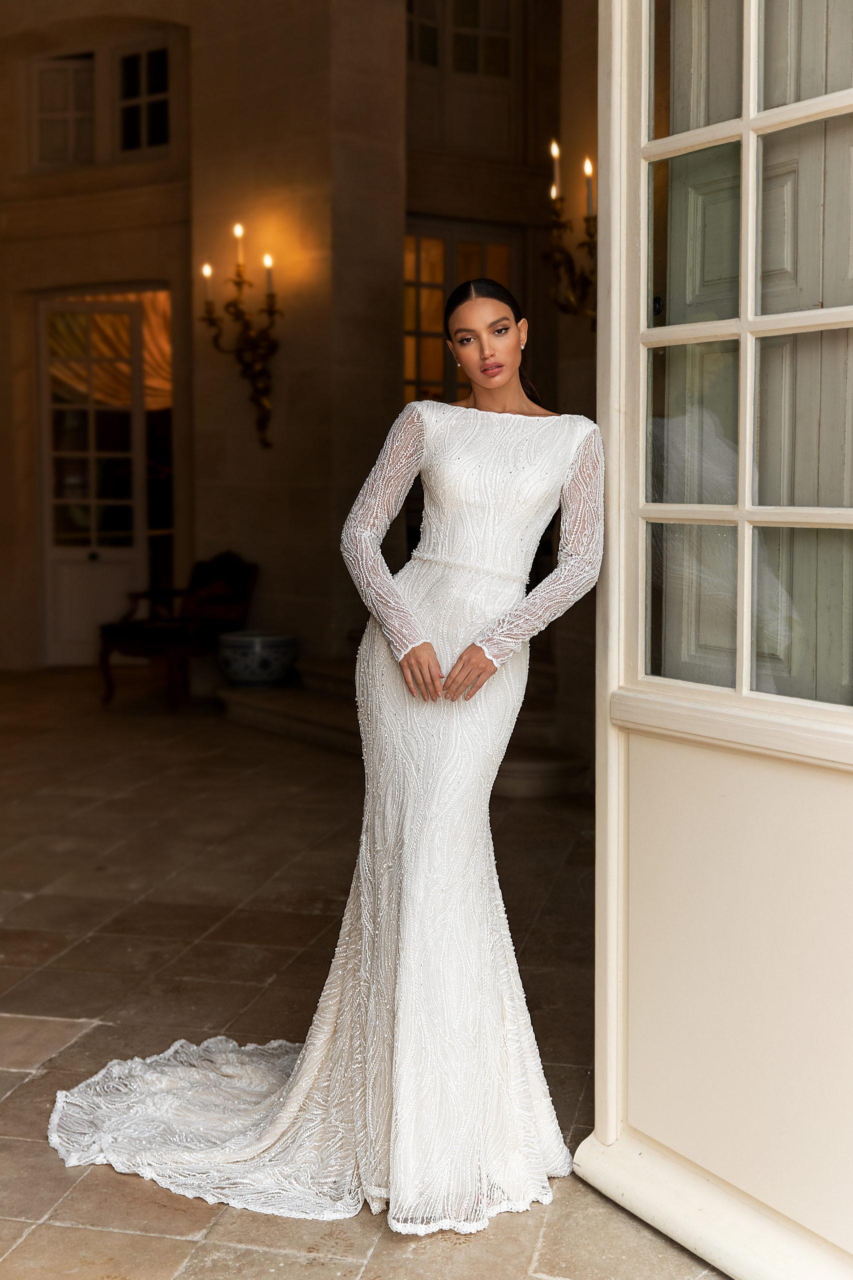robe de mariée genève luxe robe blanche perles broderie haute couture mariage suisse romande centre-ville traine thefdressgeneva tulle mariée